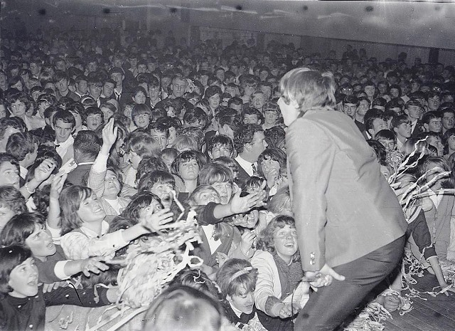 Normie Rowe plays to a packed house on 9 July 1966. Photograph courtesy Orange and District Historical Society, CWD Collection.